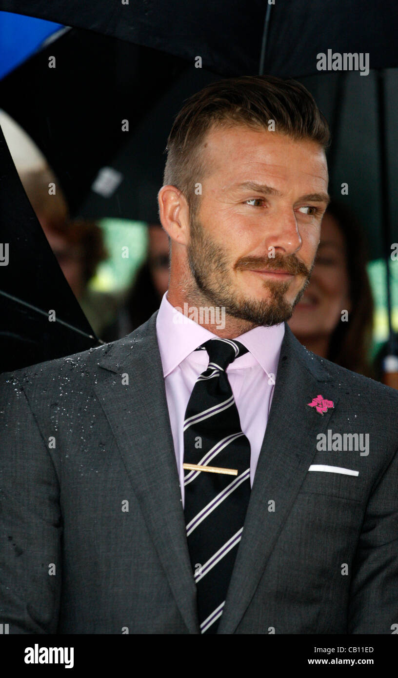 May 17, 2012 Athens Greece. DAVID BECKHAM attends the Olympic Flame handover ceremony at the Panathenaic stadium. - Stock Image