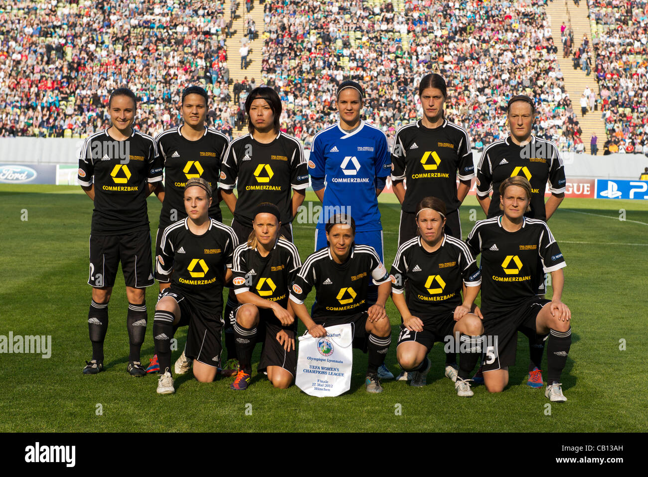 Frankfurt team group line-up, MAY 17, 2012 - Football / Soccer : Frankfurt team group (L-R) Gina Lewandowski, Dzsenifer - Stock Image