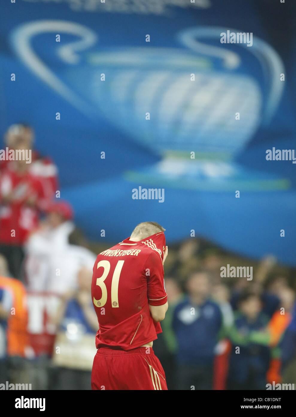 Bastian Schweinsteiger (Bayern #31) Emotionen, enttäuscht, Enttäuschung, Frust, frustriert, Trauer ,traurig, - Stock Image