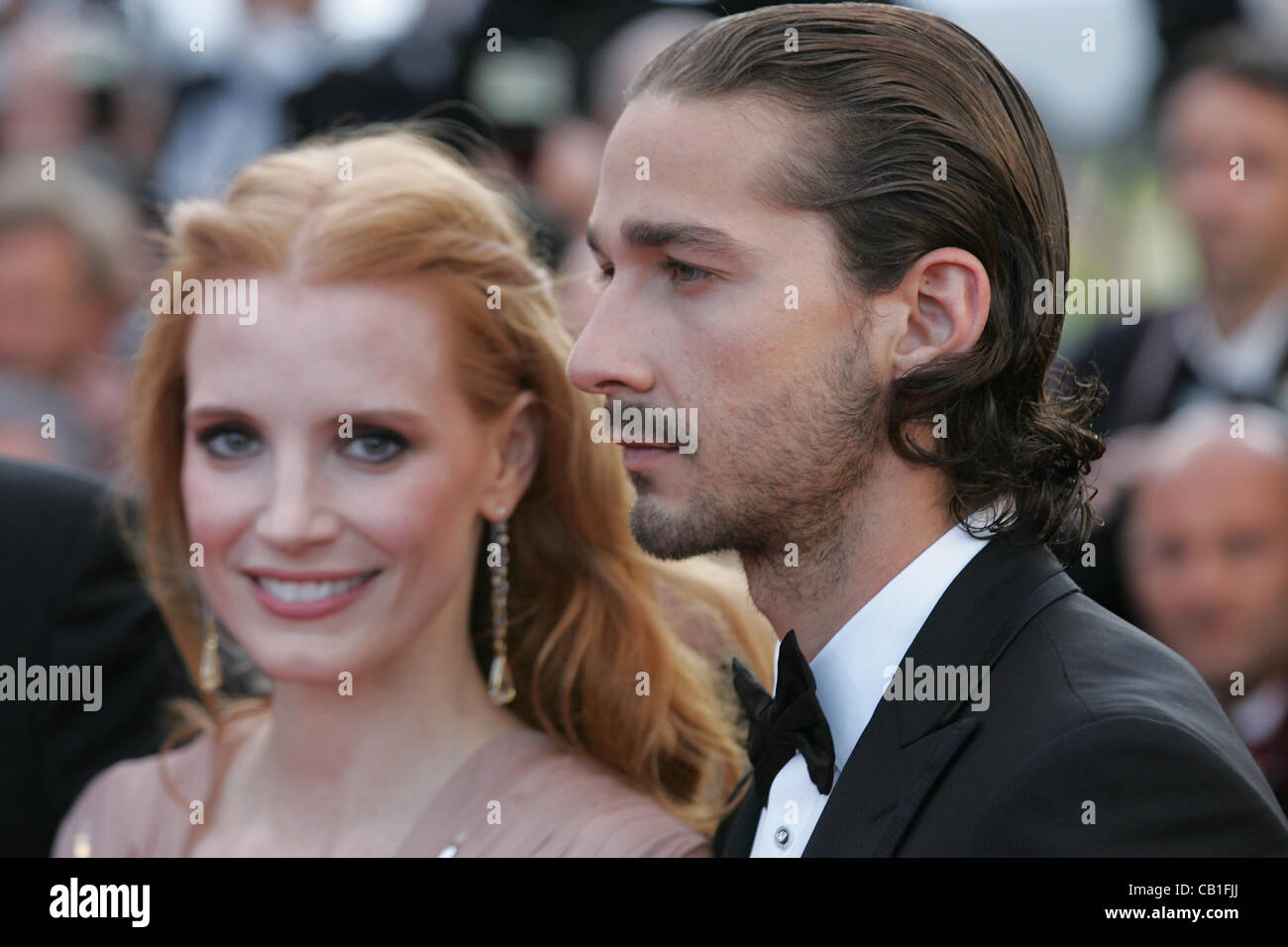Cannes France 19052012jessica Chastain Shia Labeouf Stock