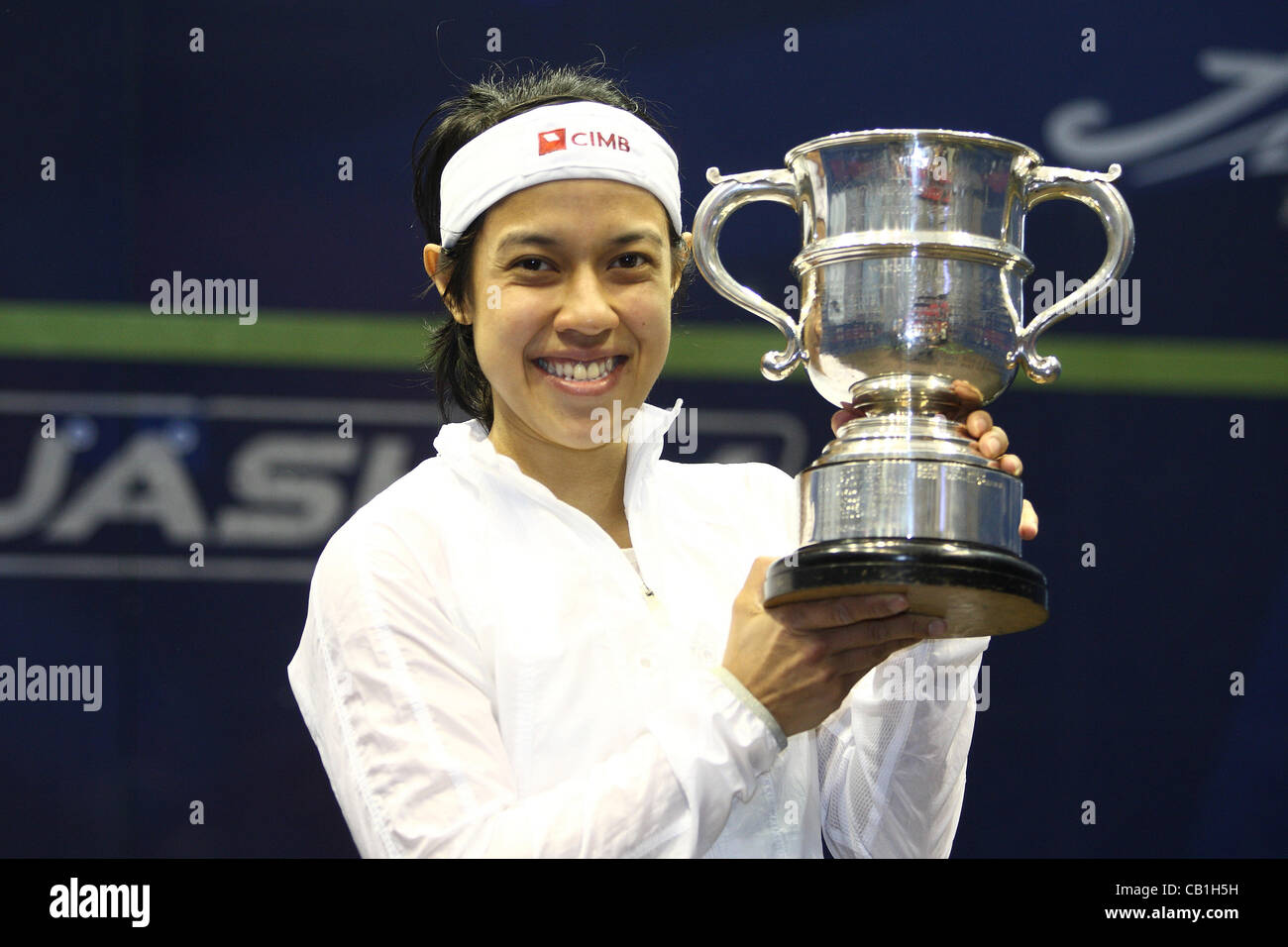 London, England. 20/05/2012. British Open Squash Championships. The winner of the women's British Open Final - Stock Image