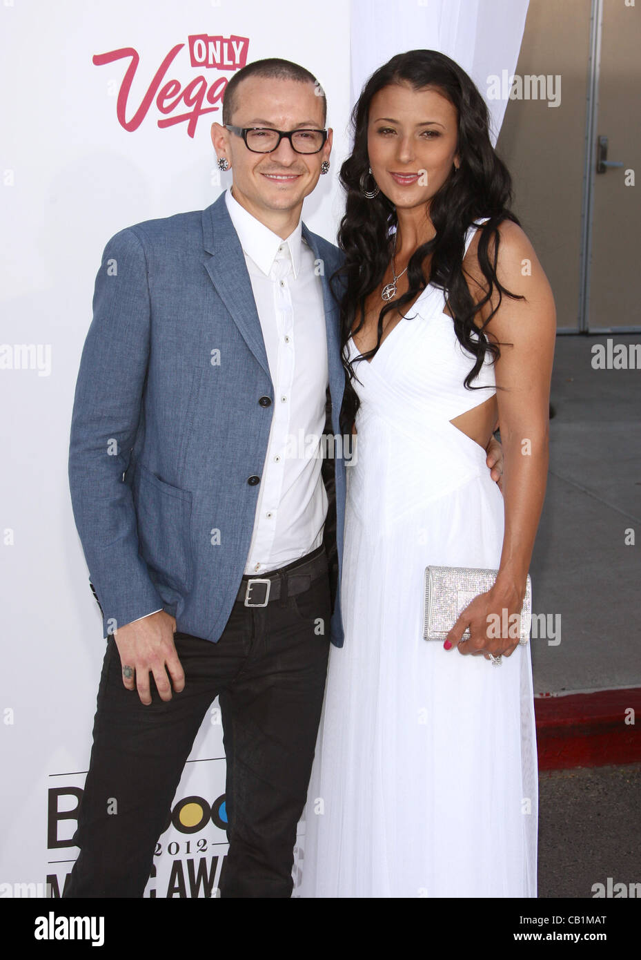 chester bennington & talinda ann bentley 2012 billboard music awards