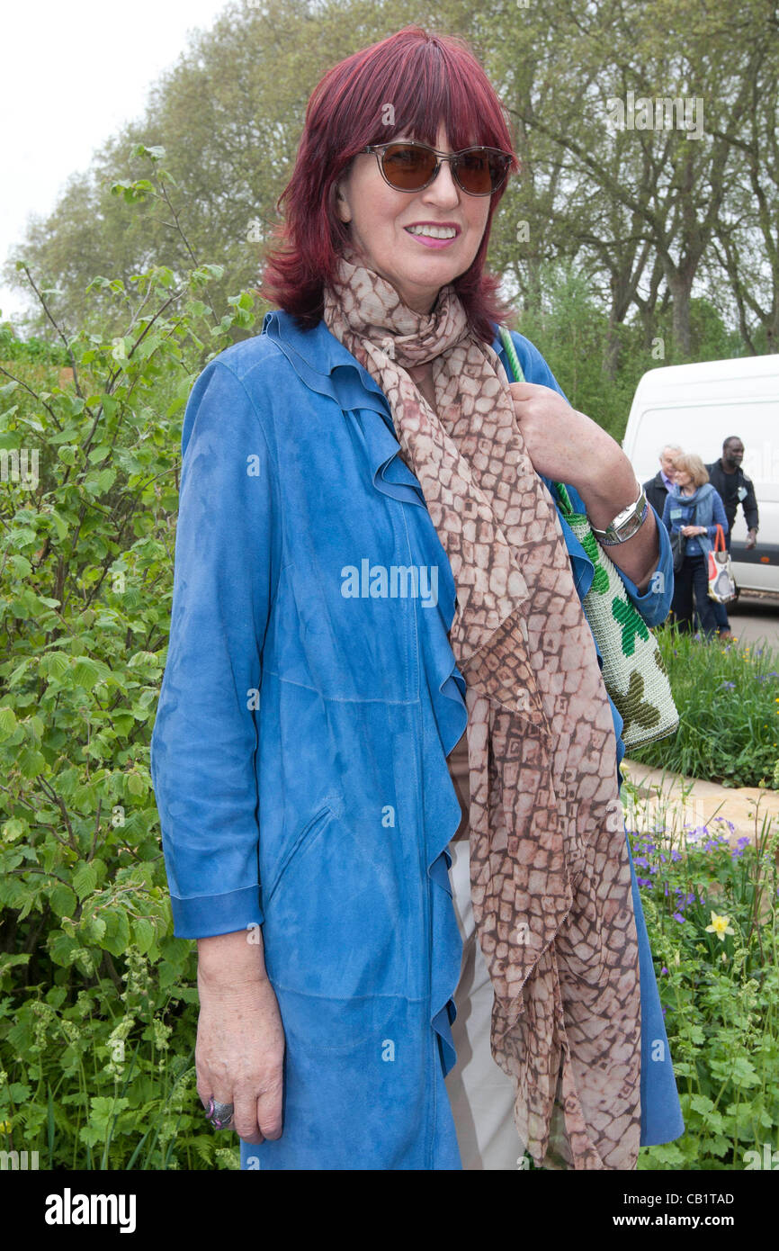 London, UK. 21 May, 2012. 2012 RHS Chelsea Flower Show,London Janet Street-Porter - Stock Image