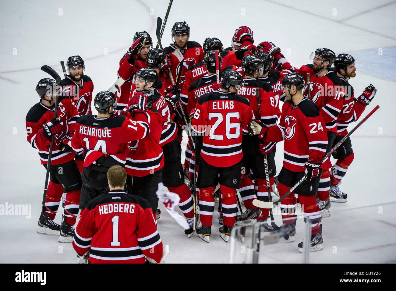 big sale 08be8 2593b 21.05.2012. Newark, NJ USA. New Jersey Devils react after ...