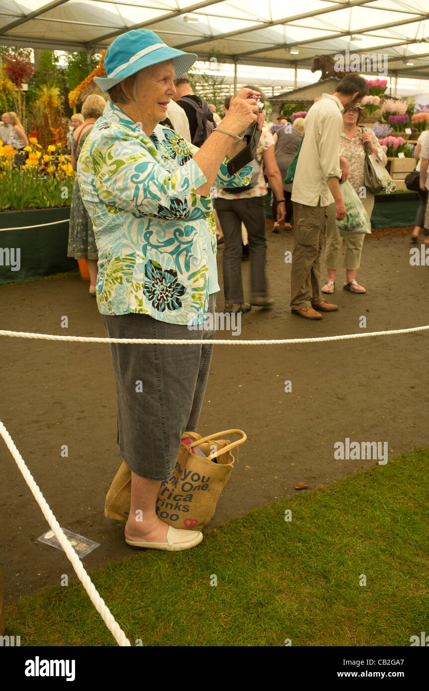 24 May, 2012. London, UK. Visitors at the RHS Chelsea Flower Show 2012. Stock Photo