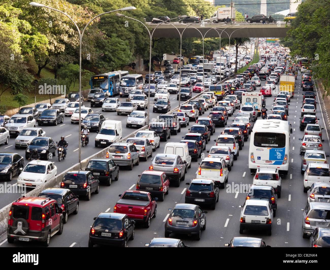 Sao Paulo Brazil City Street Areal View Big City Cityscape ... |Sao Paulo Brazil Traffic