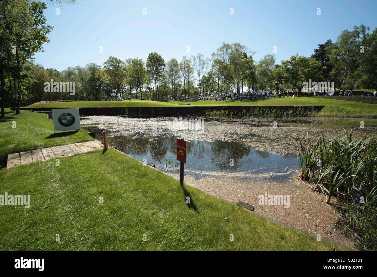 26.05.2012 Wentworth, England. The 8th at the BMW PGA Championship. Saturday, day 3 of competition. - Stock Image