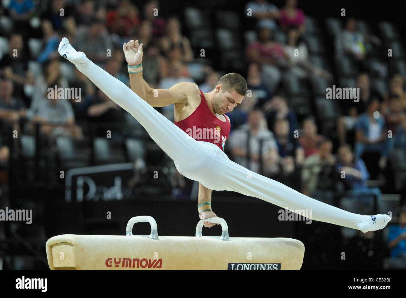 European Gymnastics Championships. Montpelier France. Senior Mens Individual Apparatus Finals  27.5.12.European - Stock Image