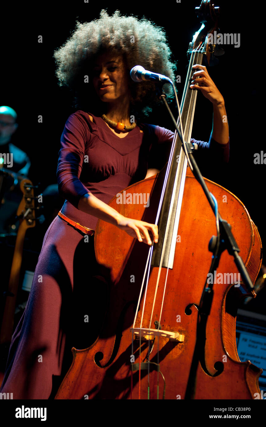 LONDON, UK - 28th MAY 2012: Esperanza Spalding performs live