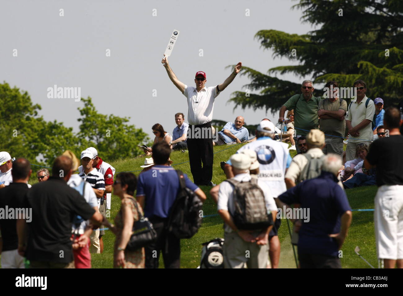 24.05.12 Virginia Water, England.  General views of Wentworth during the BMW PGA Championship on the West Course. - Stock Image