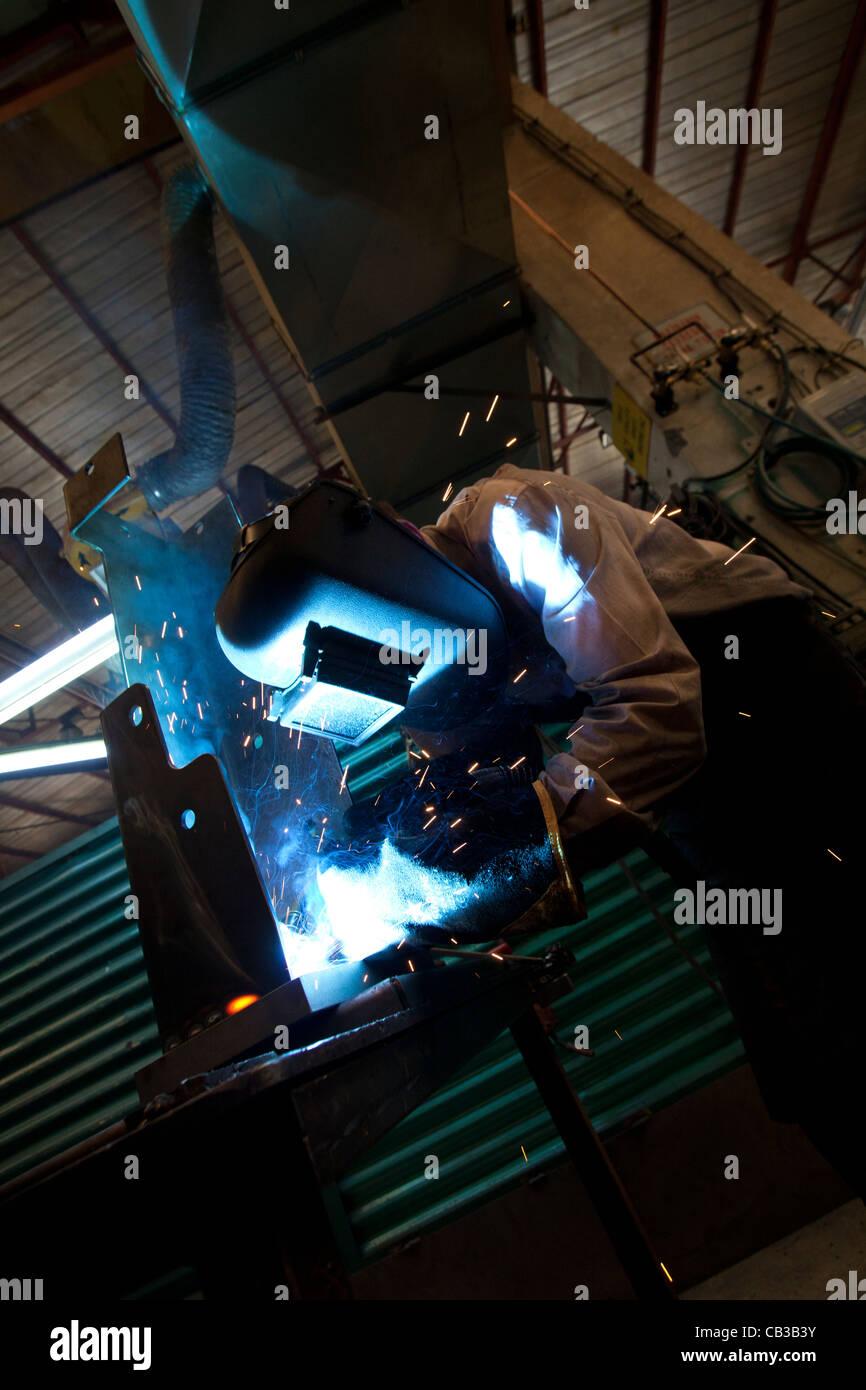 Arc Welder with Welding Sparks Stock Photo: 41256543 - Alamy