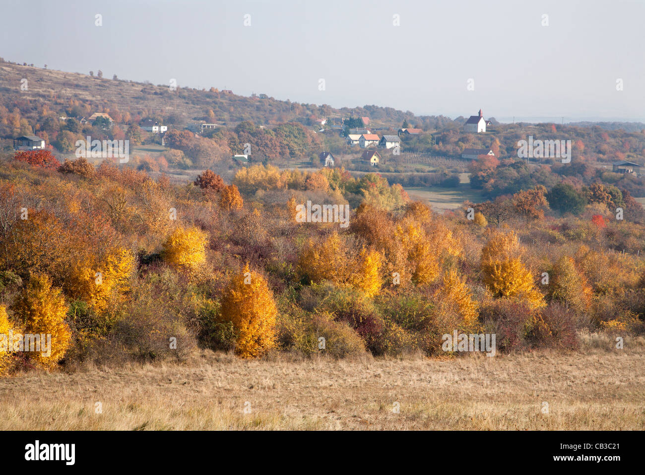 autumn landscape of middle Slovakia - Stock Image