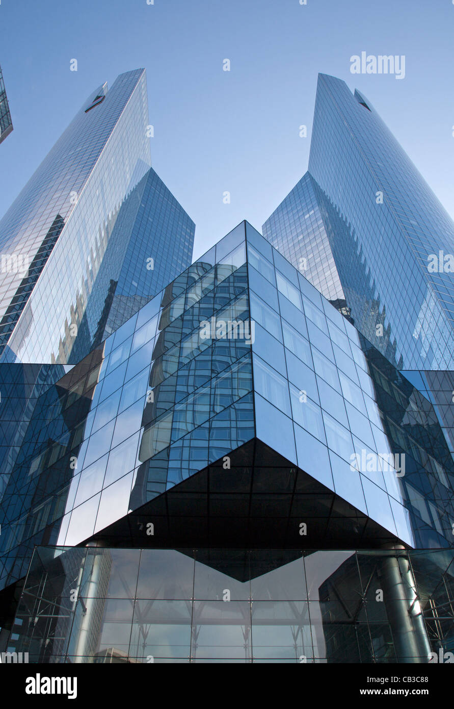 Paris - modern architecture from Defense - Stock Image