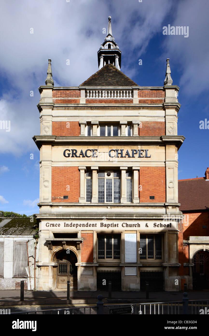 Grace Independent Baptist Church and School Folkestone Kent - Stock Image