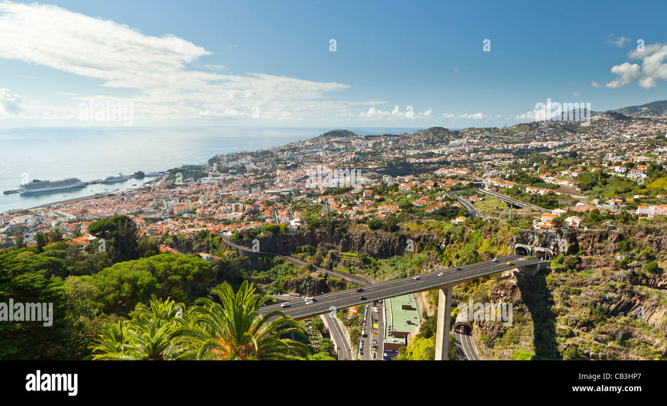 Overview of Funchal - Madeira, Portugal, Europe - Stock Image
