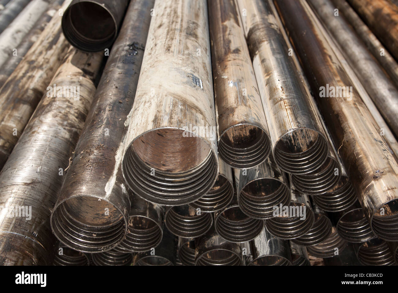 Drill rods in varying sizes HQ & NQ - Stock Image