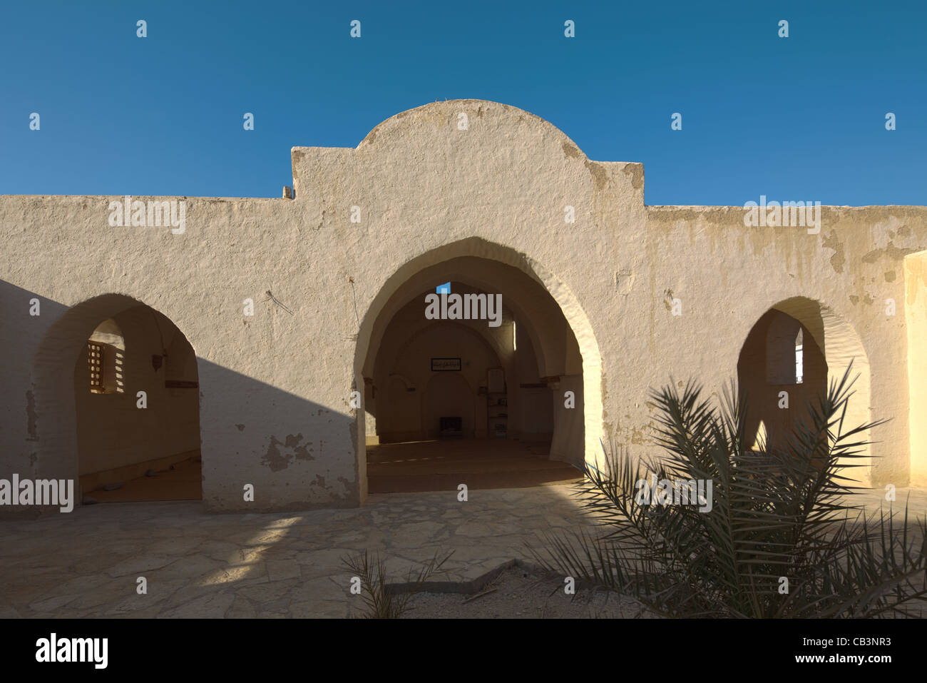 courtyard mosque at Basata eco-lodge, Gulf of Aqaba, South Sinai, Egypt - Stock Image