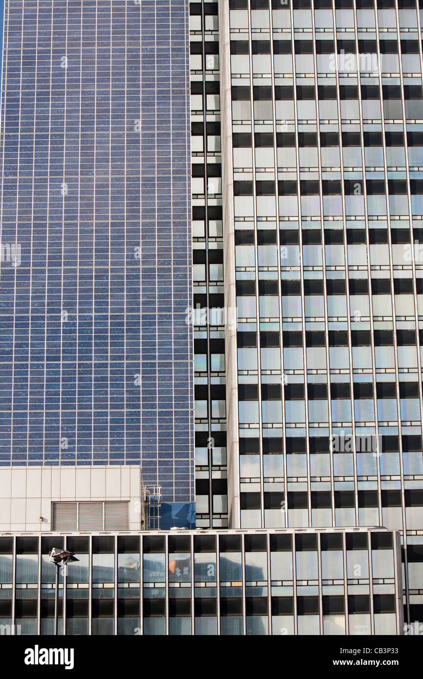 The Cooperative CIS Tower in manchester, UK. The tower has been covered in 7000 Solar panels and generates enough - Stock Image