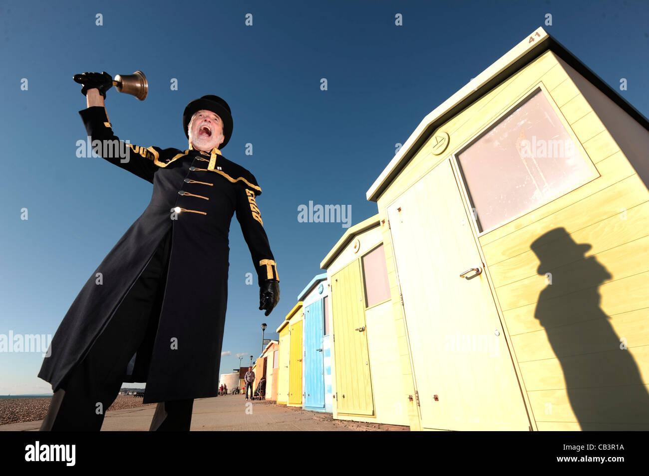 Town Crier, Seaford, East Sussex - Stock Image