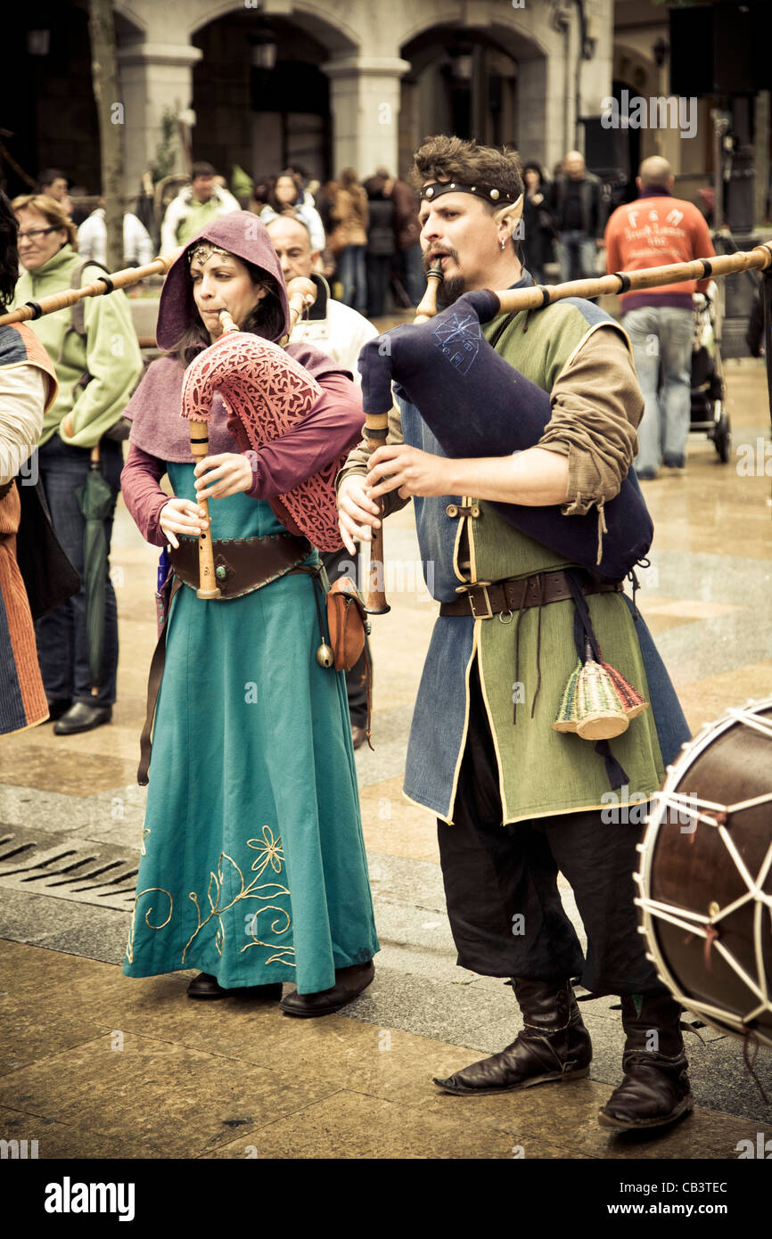 Street theatre. Medieval Fair. - Stock Image