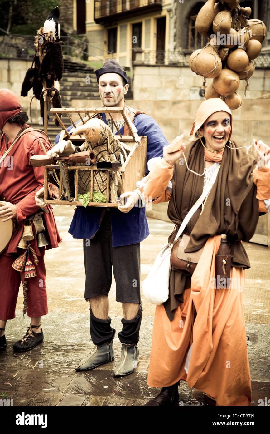 Street theatre. Medieval Fair. - Stock Image