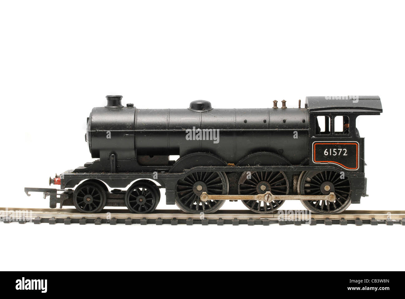B12 steam locomotive 61572 Triang Hornby Model railway equipment from the sixties and seventies - Stock Image