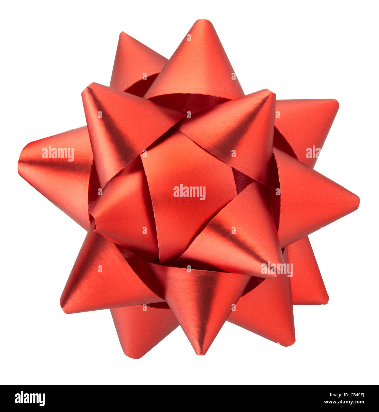 Red bow - Stock Image