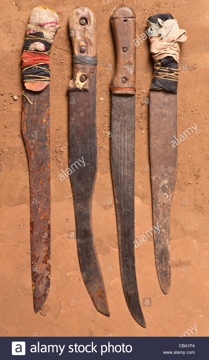 African Weapons Knives Knife Africa Stock Photos & African