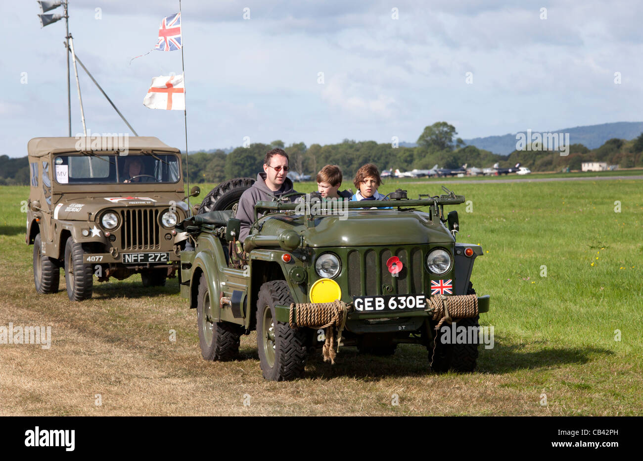 1954 Austin Champ in the Military parade at Dunsfold Wings and Wheels 2011 - Stock Image