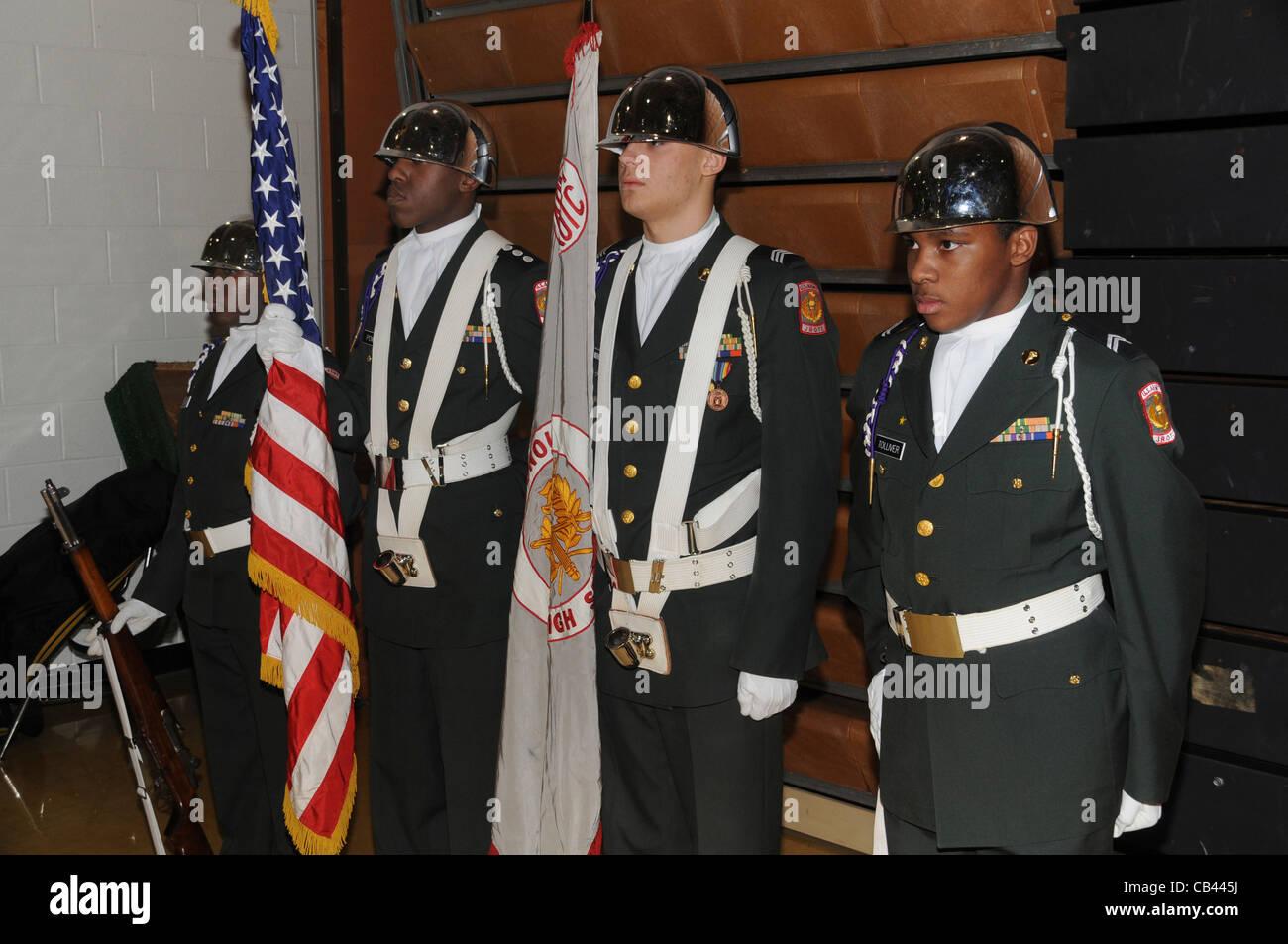 US ARMY Jr ROTC - Stock Image