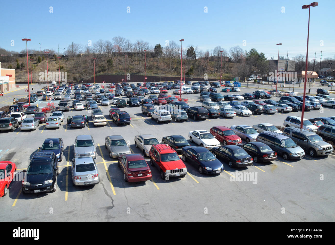 Parking Lot Full Of Cars Stock Photo 41273130 Alamy