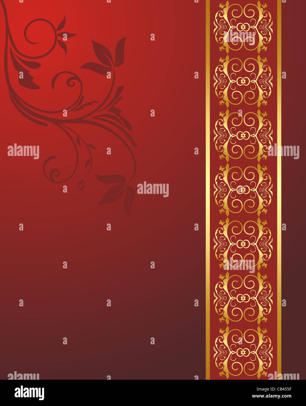 Illustration Floral Background For Design Wedding Card
