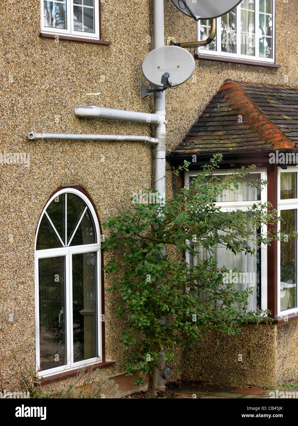 Soil Pipe On The Front Of The House - Stock Image