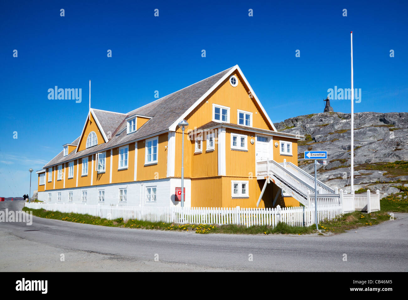 Det Gamle Sygehus (The Old Hospital) Nuuk, Greenland Stock Photo