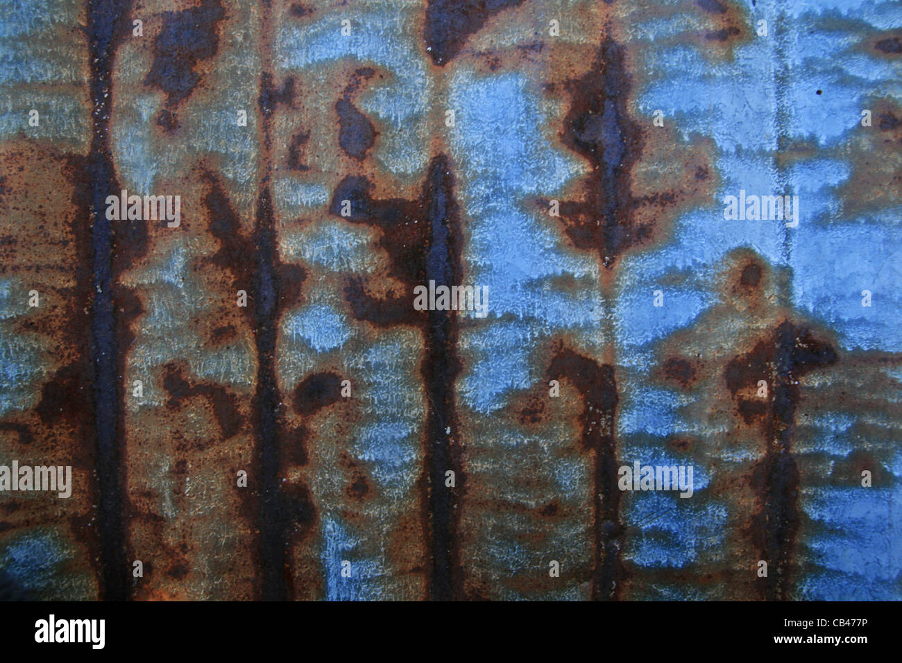 rusted grunge galvanized iron roof background texture - Stock Image