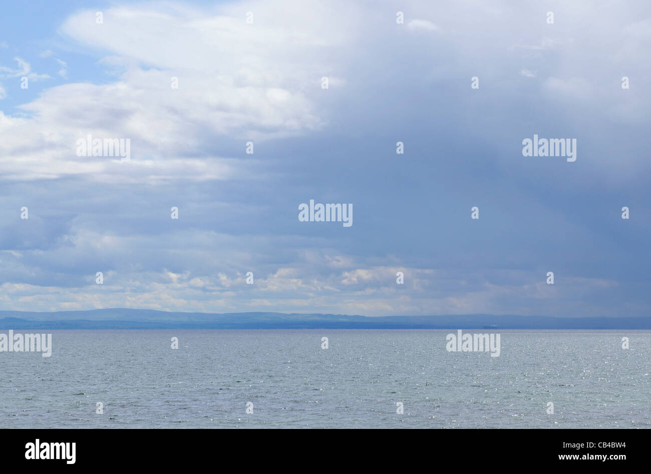 The Firth of Forth as viewed from Lower Largo in Fife, Scotland - Stock Image
