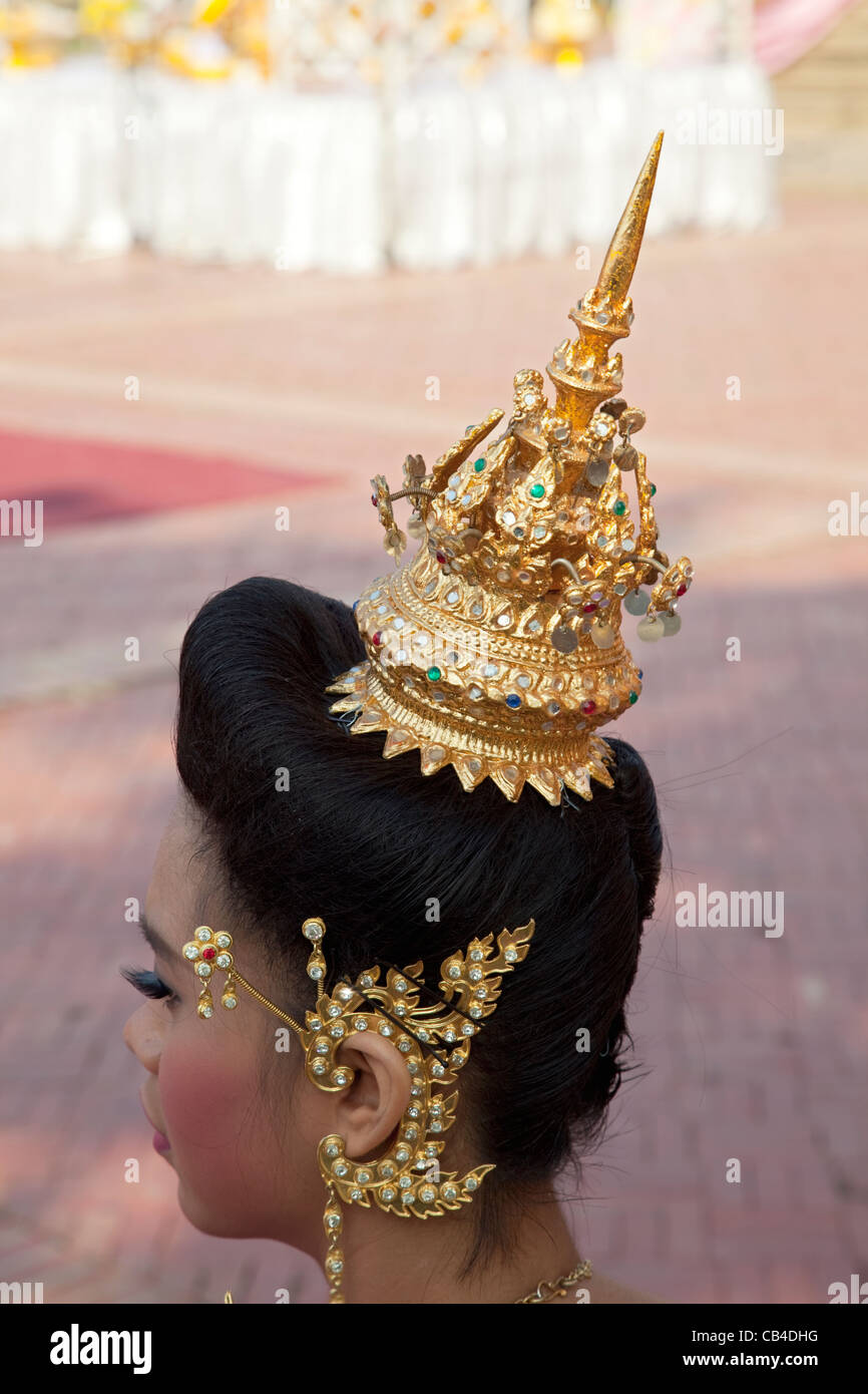 a1f876fc5 Thailand, Bangkok, Detail of Traditional Dancers Head Dress - Stock Image