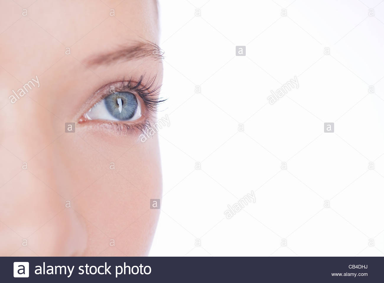 Close-up of a woman's left eye - Stock Image