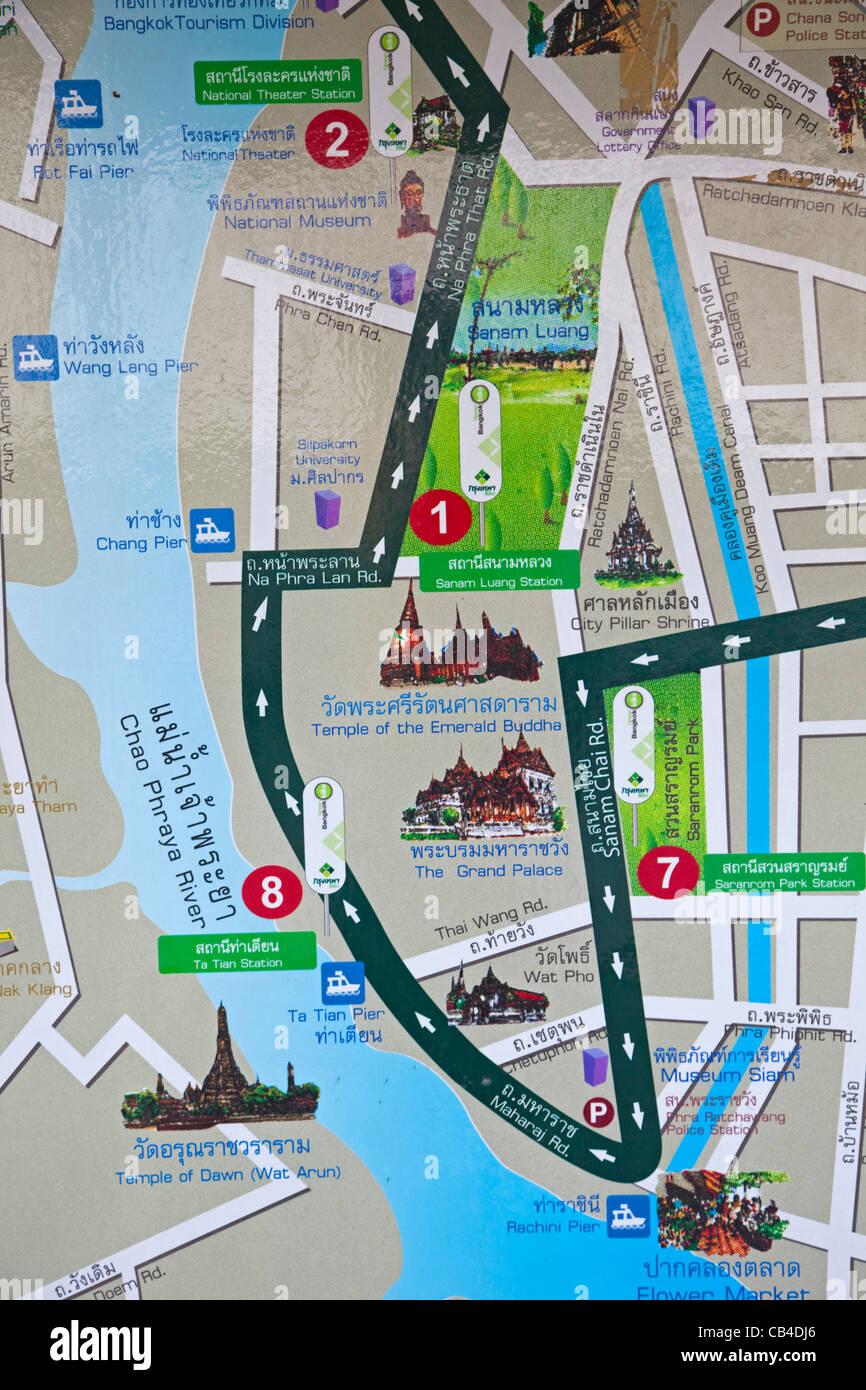 Bangkok Map Stock Photos Bangkok Map Stock Images Alamy