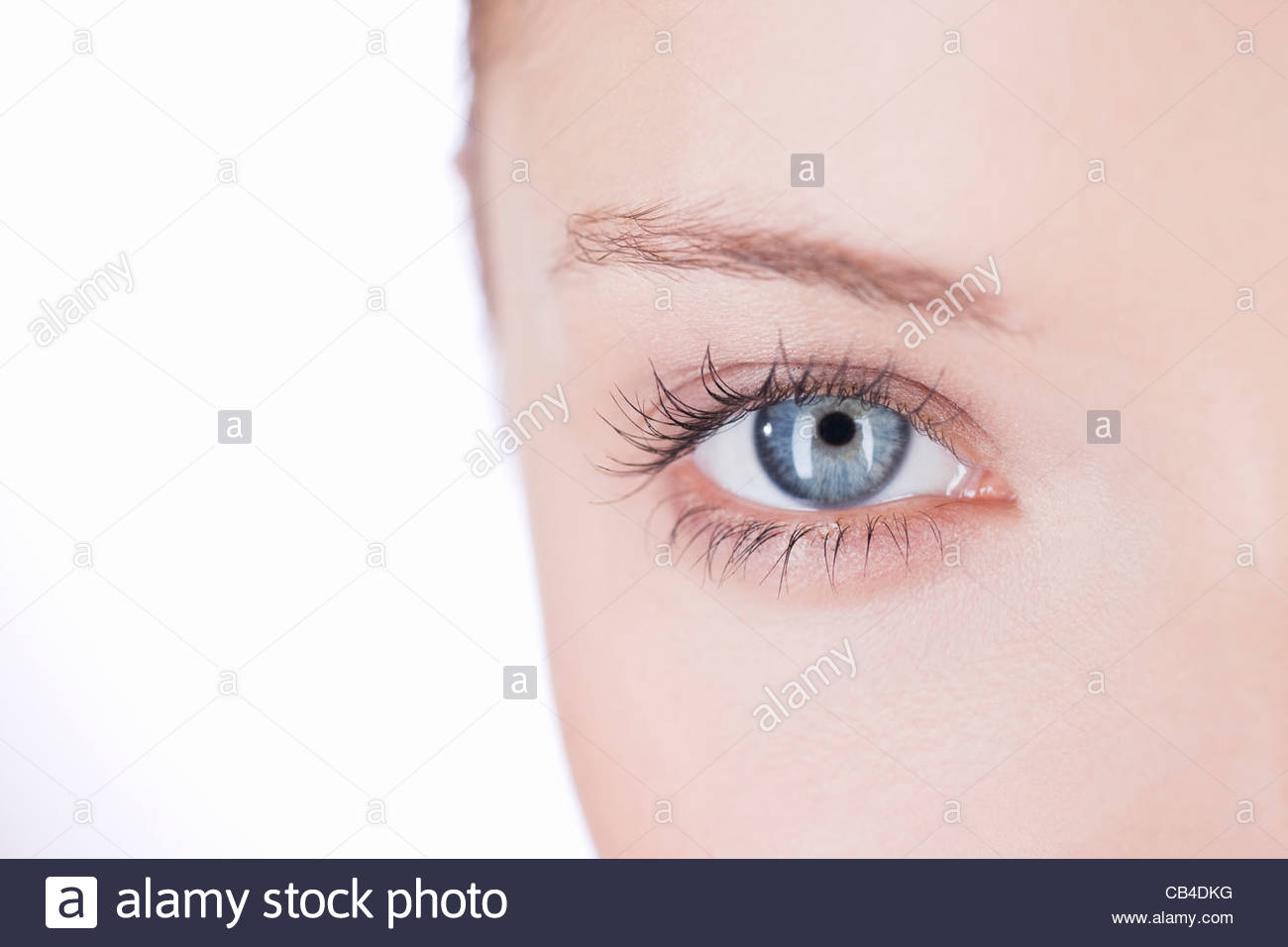 Close-up of a woman's right eye - Stock Image