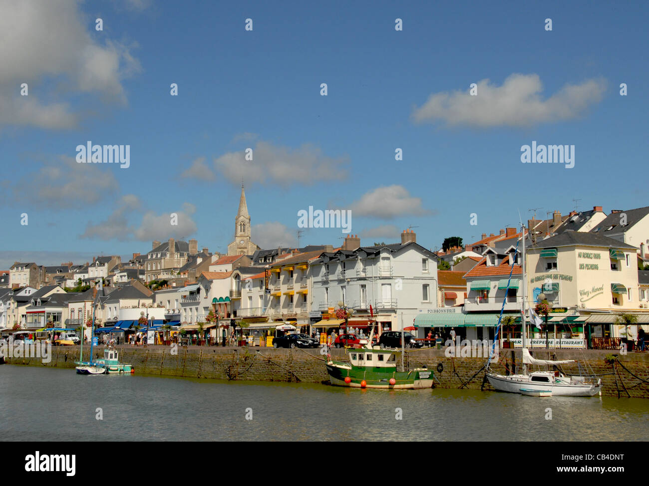 The quay of Pornic, a seaside resort on the French Côte de Jade in Loire-Atlantique, France Stock Photo