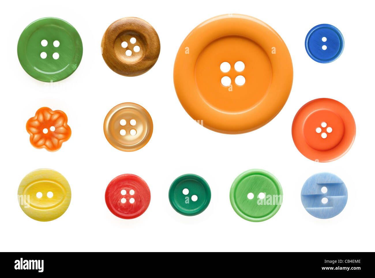 Buttons cut out - Stock Image