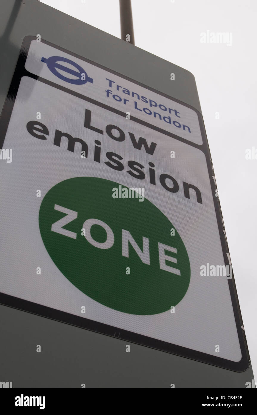 low emission zone lez london clean air transport for - Stock Image