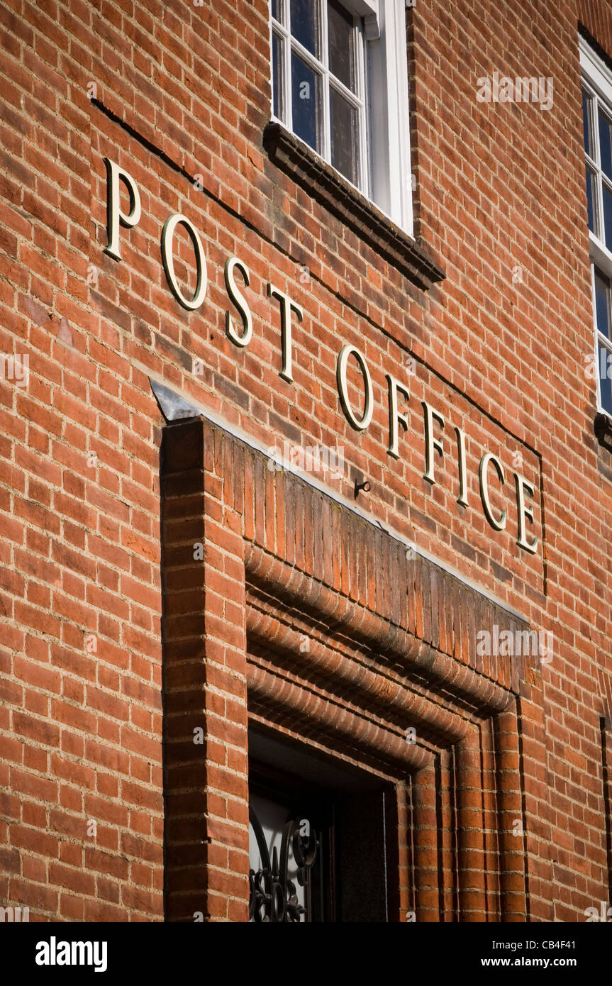 post office uk postal service mail carrier institution - Stock Image