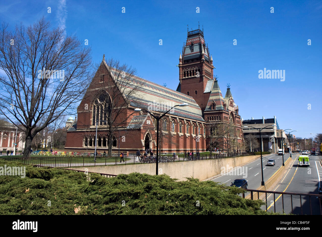 Memorial hall of Harvard university in Cambridge, Massachusetts Stock Photo