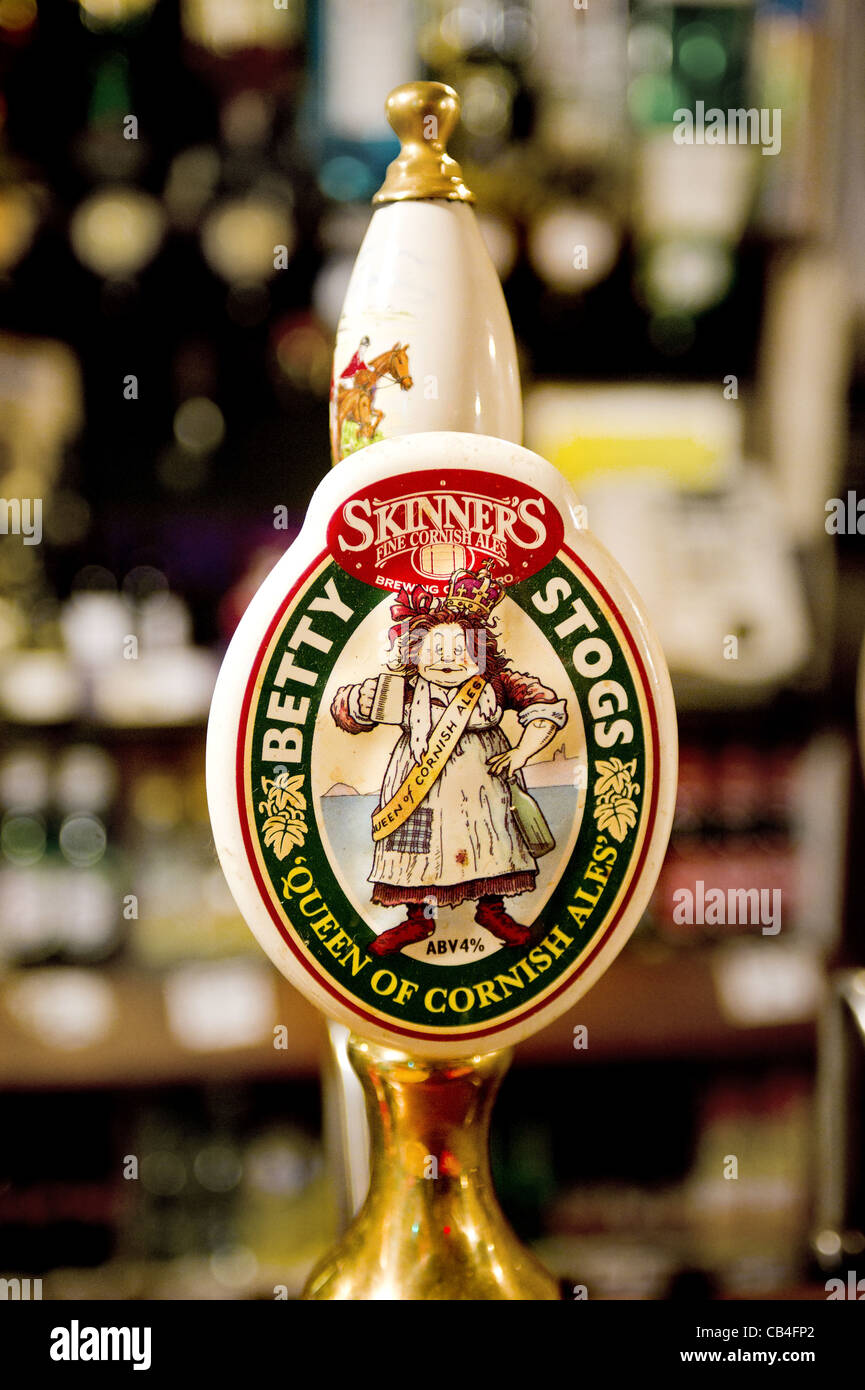 A Betty Stogs beer handle in a pub - Stock Image