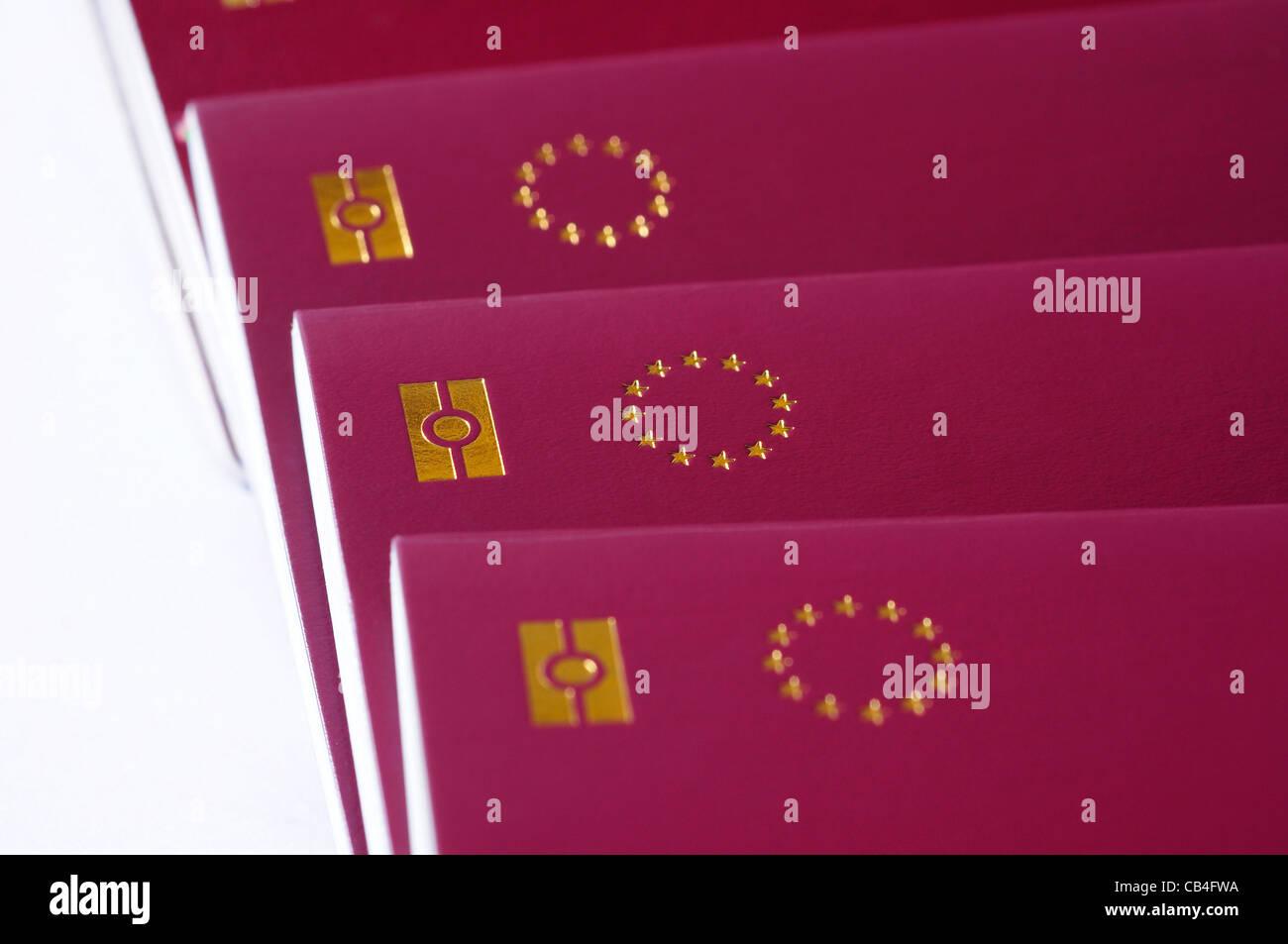 countries of European Union passports, identification