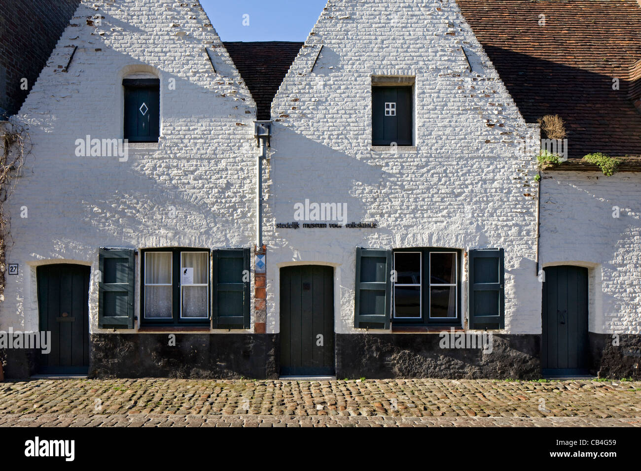 The museum of folklore and Black Cat / Zwarte Kat in Bruges, Belgium - Stock Image