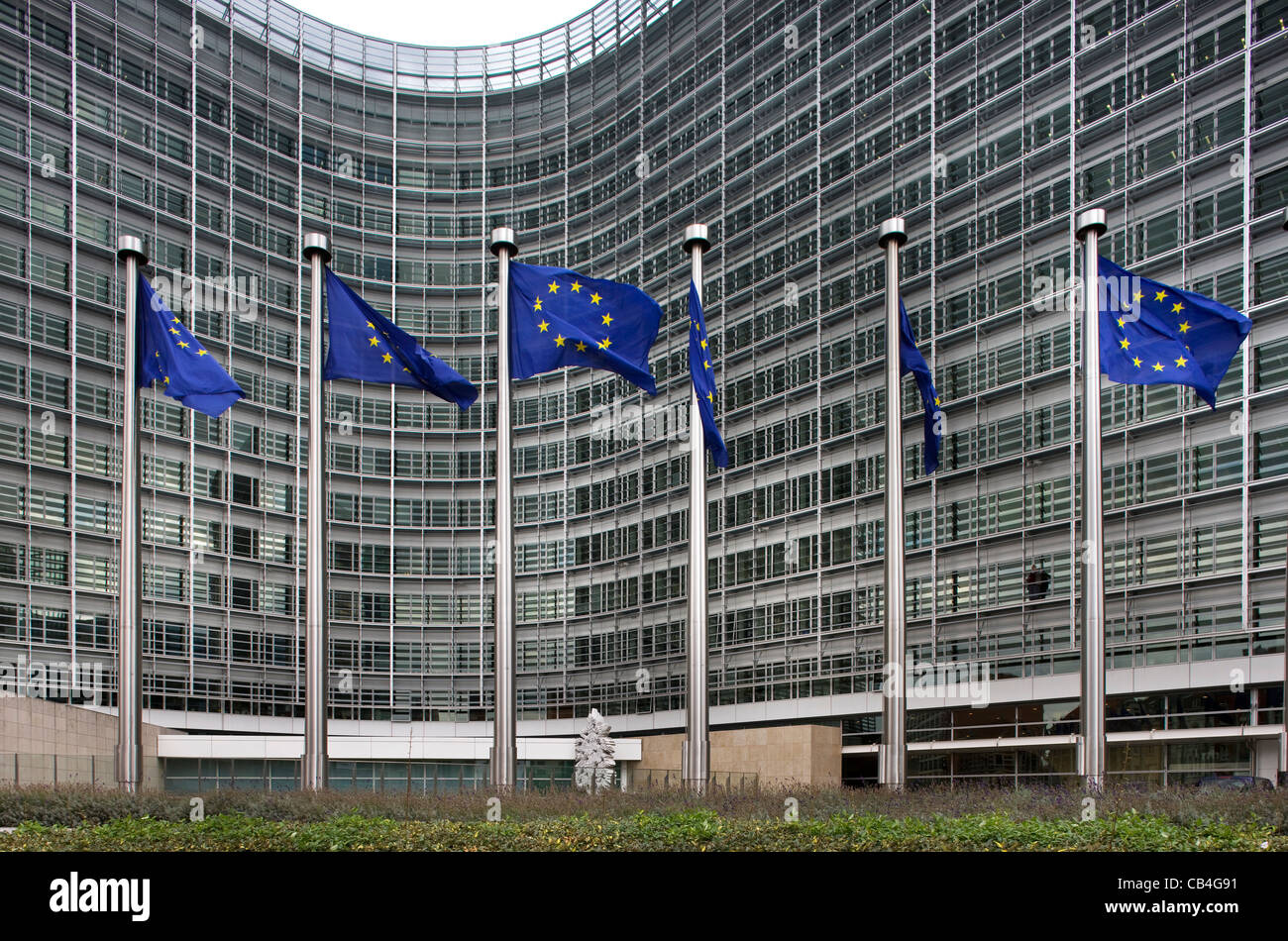 The Berlaymont, headquarters of the European Commission at Brussels, Belgium - Stock Image