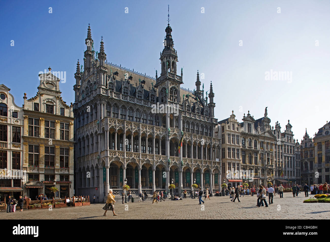 The Maison du Roi / King's House / Broodhuis / Breadhouse at the Grand Place / Grote Markt, Brussels, Belgium - Stock Image